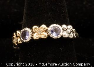 Barbara Bixby Tanzanite Flower Ring
