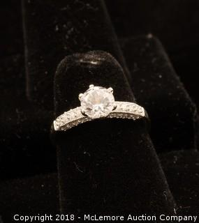 10K White Gold Cubic Zirconia Ring