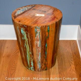 Decorative Wooden End Table