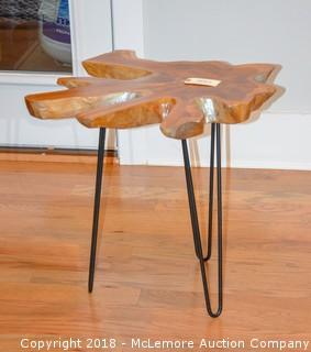 Decorative Wood End Table