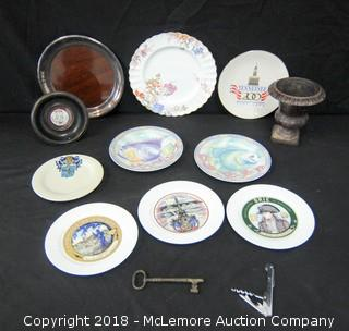 Assorted Dishes and Vase