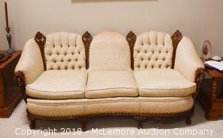 Upholstered Wood Parlor Sofa
