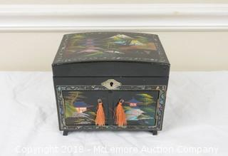 Lacquered Hand Painted Jewelry Music Box
