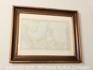 Framed Map of the East Indies