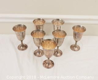 (7) Gorham Sterling Silver Goblets