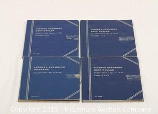 (4) Liberty Standing Coin Collector Books