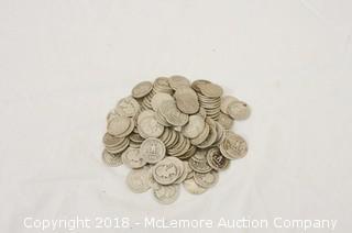 Jumbo Assortment of Silver Washington Head Quarters