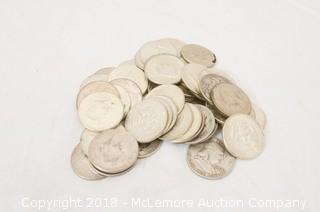 Assortment of Silver Half Dollar Coins
