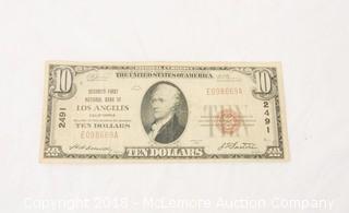 Red Seal Ten Dollar Note