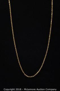 10K Yellow Gold Chain