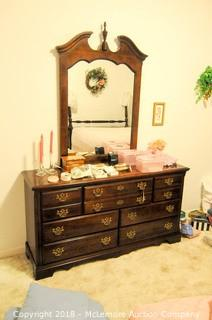 7 Drawer Dresser with Mirror by Kincaid