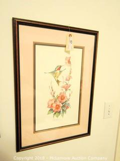 Triple Mat Hummingbird Print by Carolyn Shores Wright Limited Edition 2934/9950