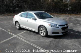2014 Chevrolet Malibu Sedan with a 2.5L L4 DOHC 16V Engine