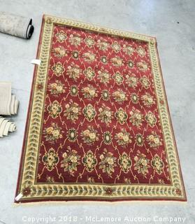Shaw Living, Kathy Ireland Collection Oriental Rug, 100% Wool, Glen Albha Garnet