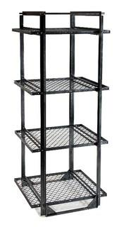 Industrial Woven Wire Shelf Unit