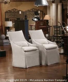 Lee Slipcover Dining Chairs - 2 Quantity
