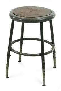 Classic Round Industrial Stool