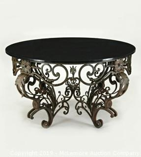 Granite Top Entry Table