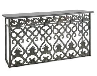 Antique Cast Iron Console