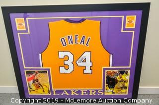 Shaquille O'Neal Signed and Framed Los Angeles Lakers Jersey with JSA Certification