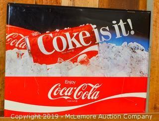 """1982 """"Coke Is It"""" Sign"""