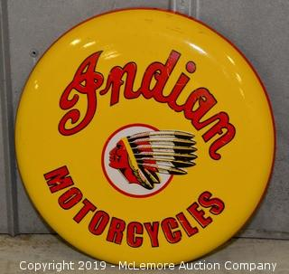 Indian Motorcycles Button Sign