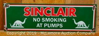 """Sinclair """"No Smoking"""" Porcelain Sign"""