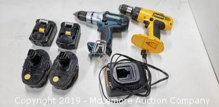 2 Cordless Electric Drills