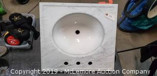 "24"" Carrera marble vanity top by Kohler"