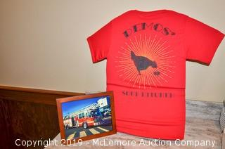 Demos' Shirt and Picture of Clarksville, TN Firetruck