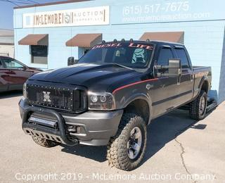 2004 Ford F250 Crew Cab Harley Davidson Edition with 6.0L V8 OHV 32V TURBO DIESEL Pickup Truck