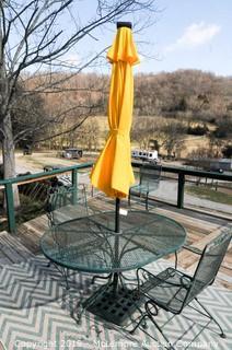 Patio Umbrella with Base, Solar Light in Umbrellas