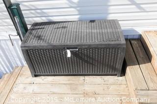 PVC Wicker Design Deck Box