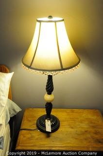 Berman Table Lamp with Metal Base with Shade