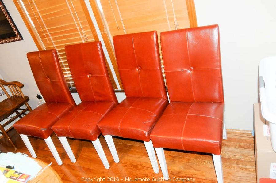 Liquidation In Williamson County TNFarm Equipment Tools Furniture Electronics Appliances Glassware And Collectibles ITEM 4 Leather Dining Chairs