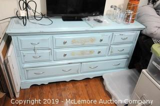 8 Drawer Wooden Painted Dresser