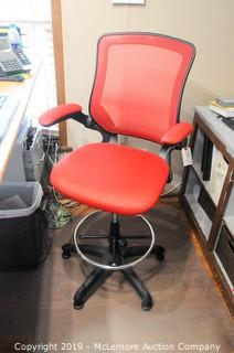 Drafting Height Office Chair with Casters