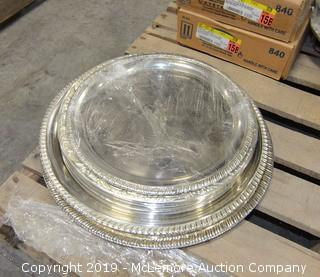 Assortment of Silver-plate and Metal Decorative Trays