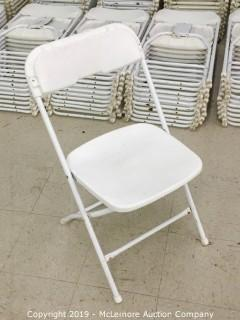 (100) Plastic Folding Chairs with Metal Frames