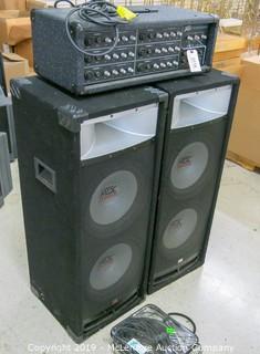 Amp by Peavey, Floor Speakers by MTX