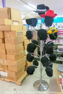 Head Display Rack & Pallet of Banded Hats