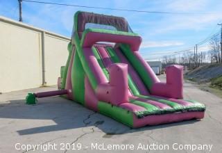 13' Inflatable Slide - Forklift on Site for Loading
