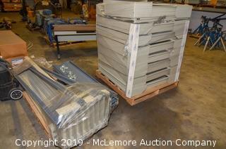 Pallet of Metal Shelving