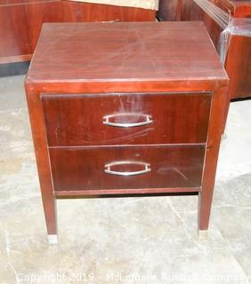 Wooden Night Stand with 2 Drawers