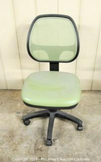 Green Office Chairs on Casters