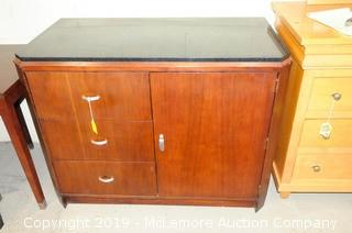 Hotel Dresser with Granite Top with 3 Drawer and 1 Cabinet