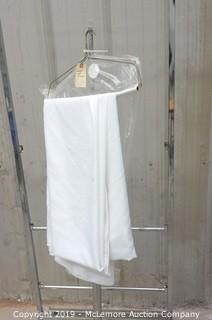 "(2) 96"" Round White Table Linens"