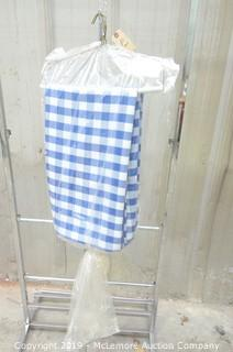 (2) Blue Checkerboard 8' Linen