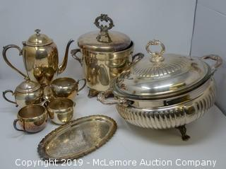 8 Silver Plate Items
