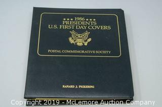 1986 Presidents U.S. First Day Covers Stamp Collection